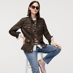 J. Crew The Downtown Field Jacket Waxed Cotton M